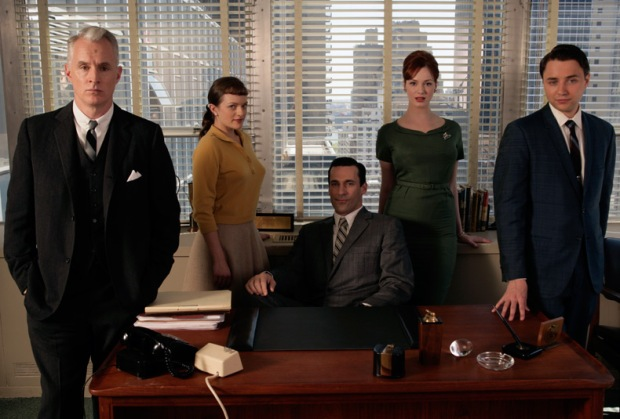 Christina Hendricks as Joan Holloway (and the cast) in Mad Men