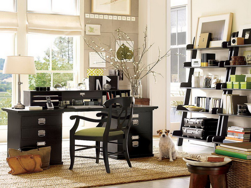 A little home office inspiration that career girl for Home office designs ideas